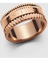 Daniel Wellington Elevation Rose Gold Ring - Metallic