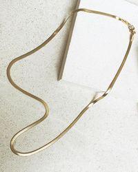 SAINT VALENTINE Sphinx Snake Chain Necklace - Metallic