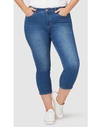 Jeanswest Kara Curve Embracer Skinny Capri - Blue