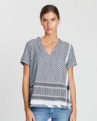 Cecilie Copenhagen Shirt V Short Sleeves - Multicolour