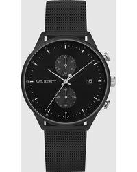 PAUL HEWITT Chrono Mesh Watch - Black