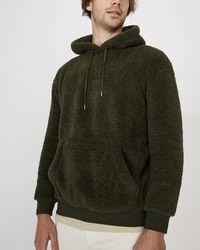 Cotton On Drop Shoulder Teddy Fleece Hoodie - Green