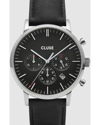 Cluse Aravis Chronograph Leather - Black