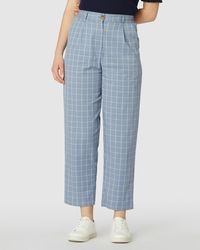 Princess Highway Tabitha Check Trousers - Blue