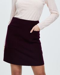 Marcs Felted Wool Patch Pocket Skirt - Multicolour