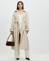 Mng Rachel Trench Coat - Natural