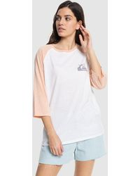 Quiksilver Raglan T Shirt - White