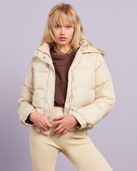 Missguided Hooded Puffer Jacket - Natural