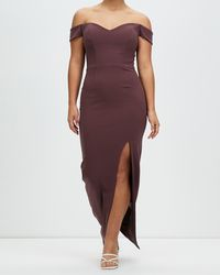 Romance by Honey and Beau Shine Off The Shoulder Maxi - Multicolour
