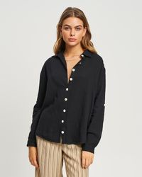 The Fated Flossy Shirt - Black