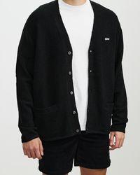 Stussy Italic Knit Cardigan - Black