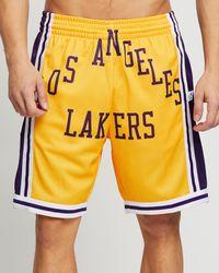 Mitchell & Ness Blown Out Fashion Shorts - Yellow