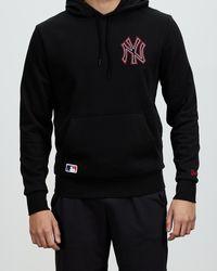 KTZ New York Yankees Chain Stitch Hoodie - Black
