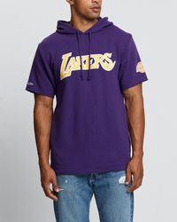Mitchell & Ness La Lakers Gameday Ss French Terry Hoody - Purple