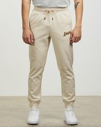 Mitchell & Ness Los Angeles Lakers Hometown Fleece jogger Trousers - Natural