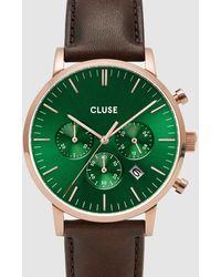 Cluse Aravis Chronograph Leather - Brown