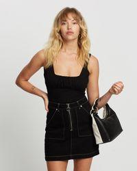 Glamorous Ruche Front Bodysuit - Black