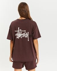 Stussy The Iconic Exclusive Graffiti Relaxed Tee - Brown