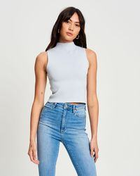 TUSSAH Layla Knit Top - Blue