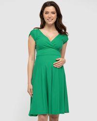 Bamboo Body Wrap Dress - Green