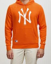 KTZ New York Yankees Seasonal Team Logo Hoodie - Orange