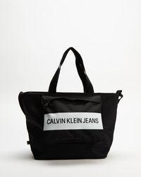 Calvin Klein Textured Shopper 29 Tote - Black