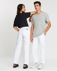 Dickies 874 Original Relaxed Fit Trousers - White