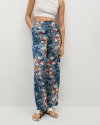 Mng Petal Trousers - Blue