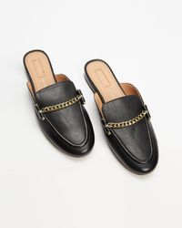 TOPSHOP Liana Leather Loafers - Black
