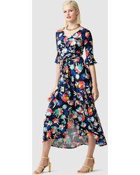 SACHA DRAKE Encore Gardens Midi Dress - Blue