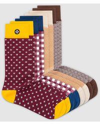 Sockdaily Sunburn 8 Pack Crew Socks - Multicolour