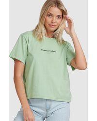 RVCA S & V Easy Tee - Green