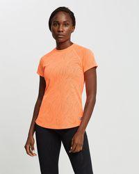 New Balance Q Speed Fuel Jacquard Short Sleeve Tee - Orange