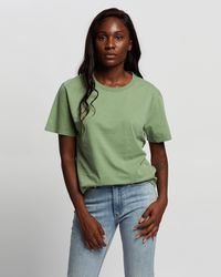 Volcom Pigment Wash Short Sleeve Tee - Green