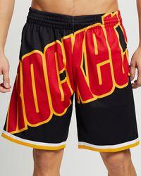 Mitchell & Ness Blown Out Fashion Shorts - Black