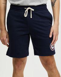 New Balance Nb Essentials Athletic Club Fleece Short - Blue