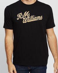 R.M.Williams R.m.w. Script T Shirt - Black