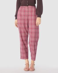 Princess Highway Billy Check Trousers - Pink