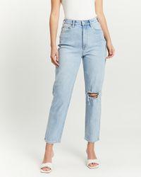 Lee Jeans High Mom Slim Jeans - Blue