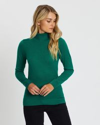 Atmos&Here Kate Turtle Neck Knit - Green