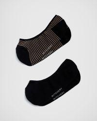 Witchery Striped Loafer Sock - Black