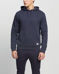 Staple Superior Staple Organic Fleece Hoodie - Blue