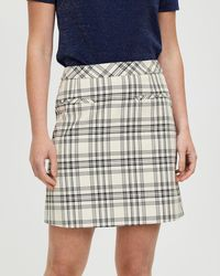 Marcs Plaid Time Mini Skirt - Black