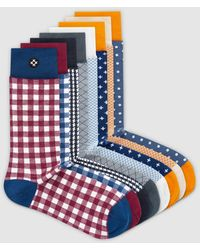 Sockdaily Great 8 Pack Crew Socks - Blue