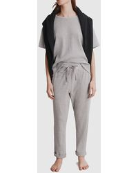 Country Road Waffle Lounge Pant - Grey