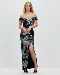 Romance by Honey and Beau Shine Off The Shoulder Maxi - Black