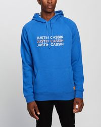 Justin Cassin Solid Logo Pullover Hoodie - Blue