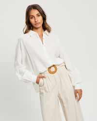 The Fated Tori Relaxed Shirt - White