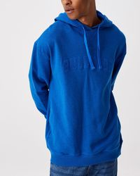 Cotton On Nrl Mens Embroidered Hoodie - Blue