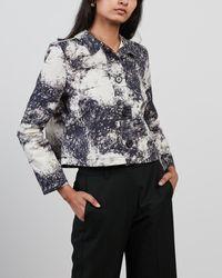 ALIGNE Chyna M Cropped Boxy Jacket - Multicolour